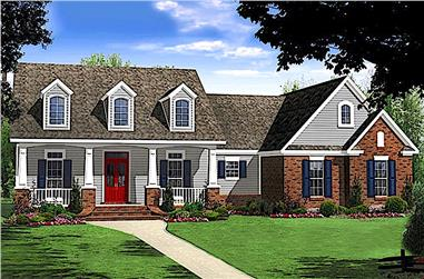 3-Bedroom, 1637 Sq Ft Craftsman Home - Plan #141-1258 - Main Exterior