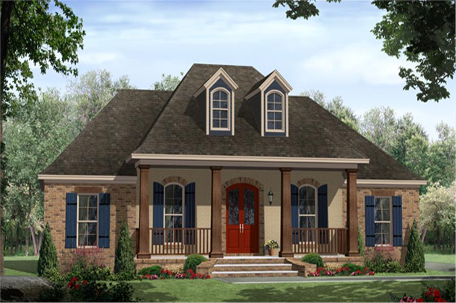 Country Style House Plans 4 bedroom country home plan homepw76593 141 1259 141 1259 Home Plan Front Elevation