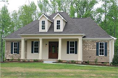 Color photograph of Country home plan (ThePlanCollection: House Plan #141-1259)