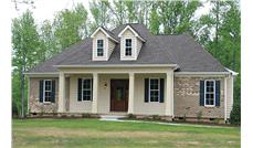Front elevation of Country home (ThePlanCollection: House Plan #141-1259)