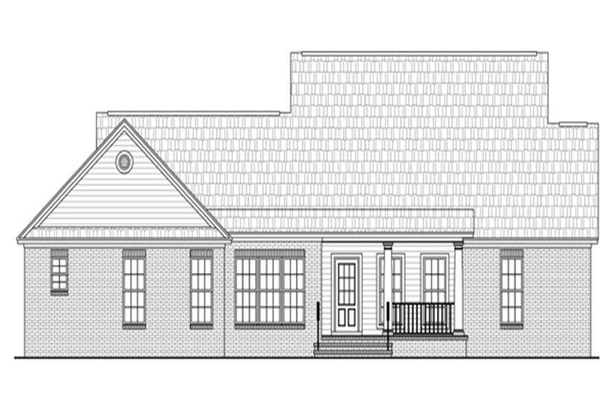 Home Plan Rear Elevation of this 3-Bedroom,1717 Sq Ft Plan -141-1260