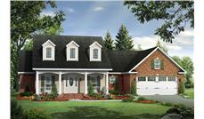Front elevation of Country home (ThePlanCollection: House Plan #141-1260)