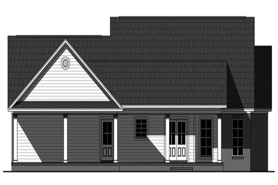 141-1261: Home Plan Rear Elevation
