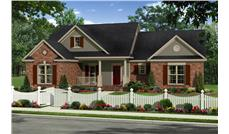 Front elevation of Traditional home (ThePlanCollection: House Plan #141-1261)
