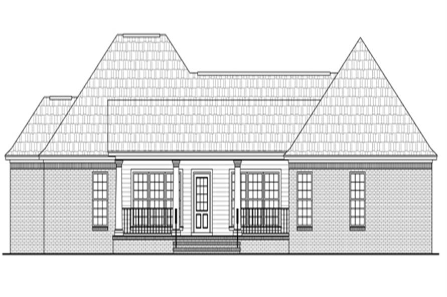 141-1264: Home Plan Rear Elevation