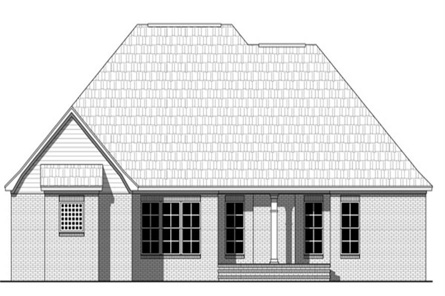 141-1265: Home Plan Rear Elevation