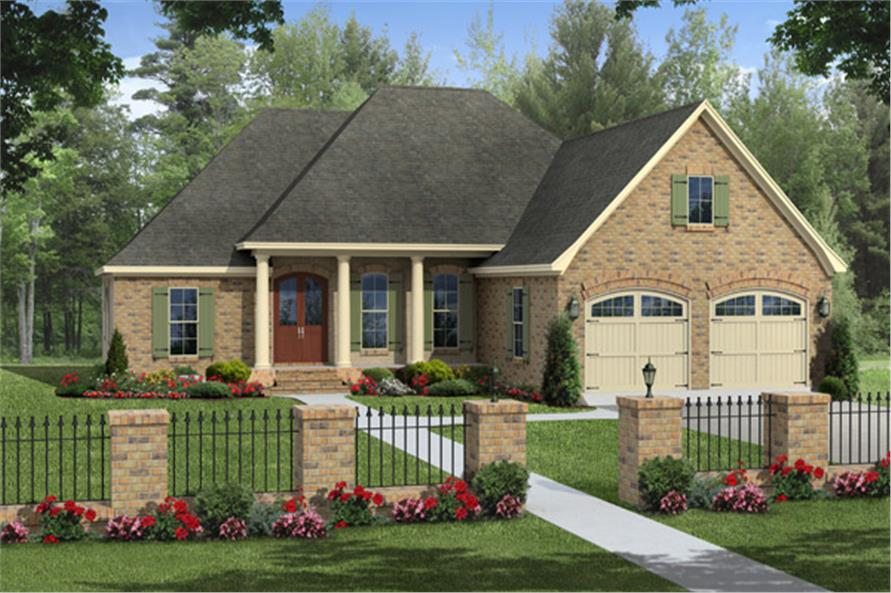 Front elevation of Traditional home (ThePlanCollection: House Plan #141-1265)