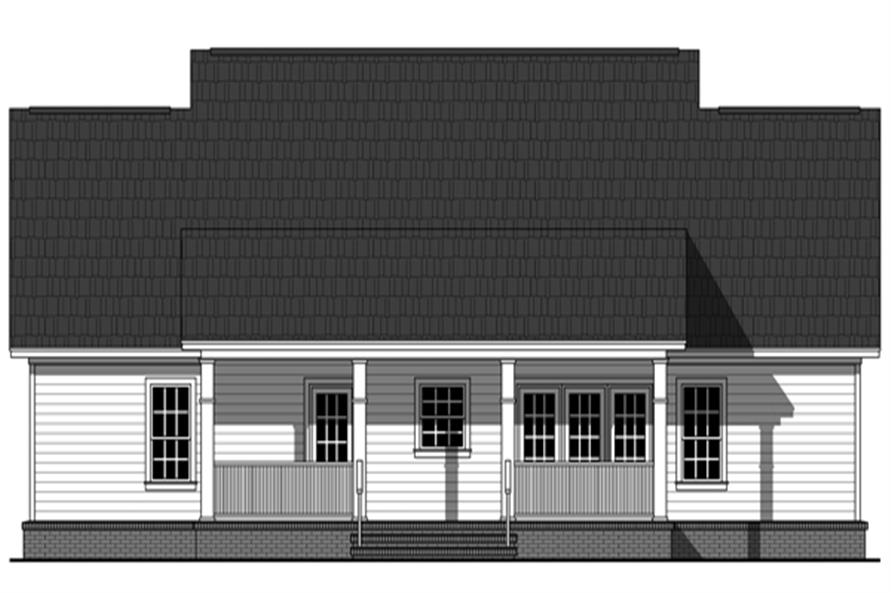 141-1266: Home Plan Rear Elevation