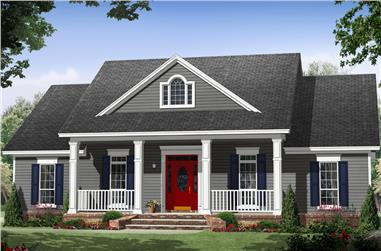 3-Bedroom, 1870 Sq Ft Country House Plan - 141-1266 - Front Exterior