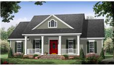 Front elevation of Country home (ThePlanCollection: House Plan #141-1266)