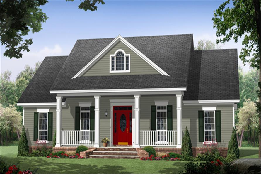Country Home Designs: Country Cottage House Plan #141-1266: 3 Bedrm, 1870 Sq Ft