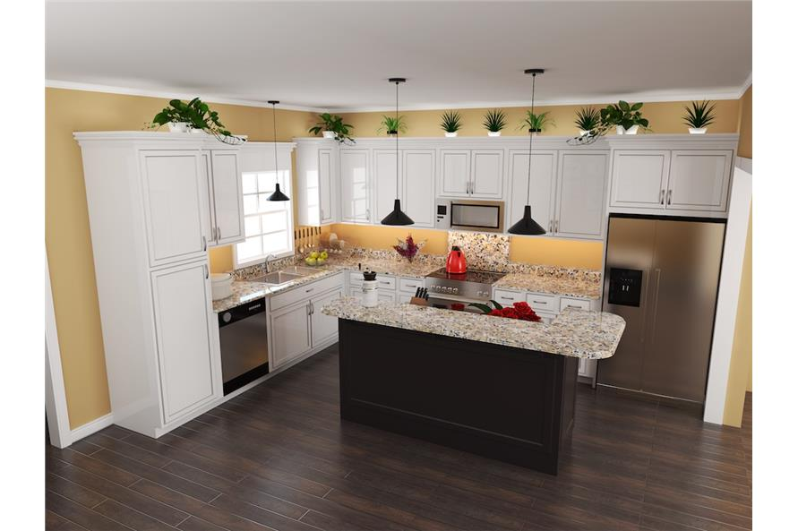 141-1267: Home Plan 3D Image-Kitchen