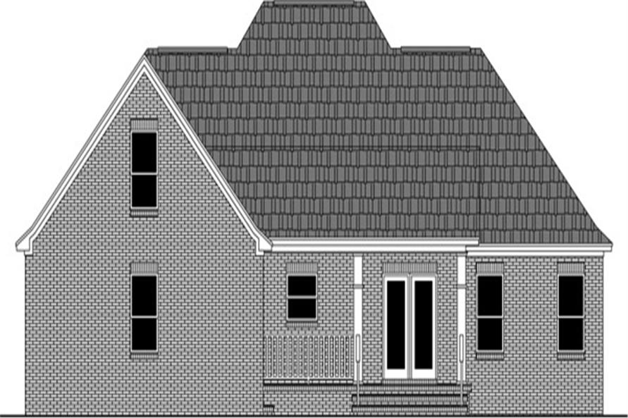 Home Plan Rear Elevation of this 3-Bedroom,1888 Sq Ft Plan -141-1267