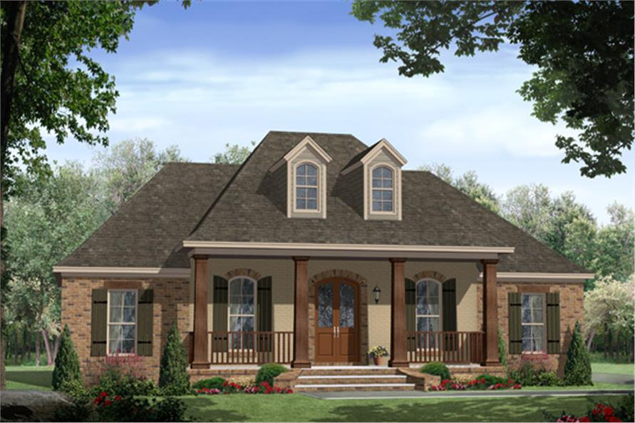 Front Elevation French : Acadian house plan  bedrm sq ft home