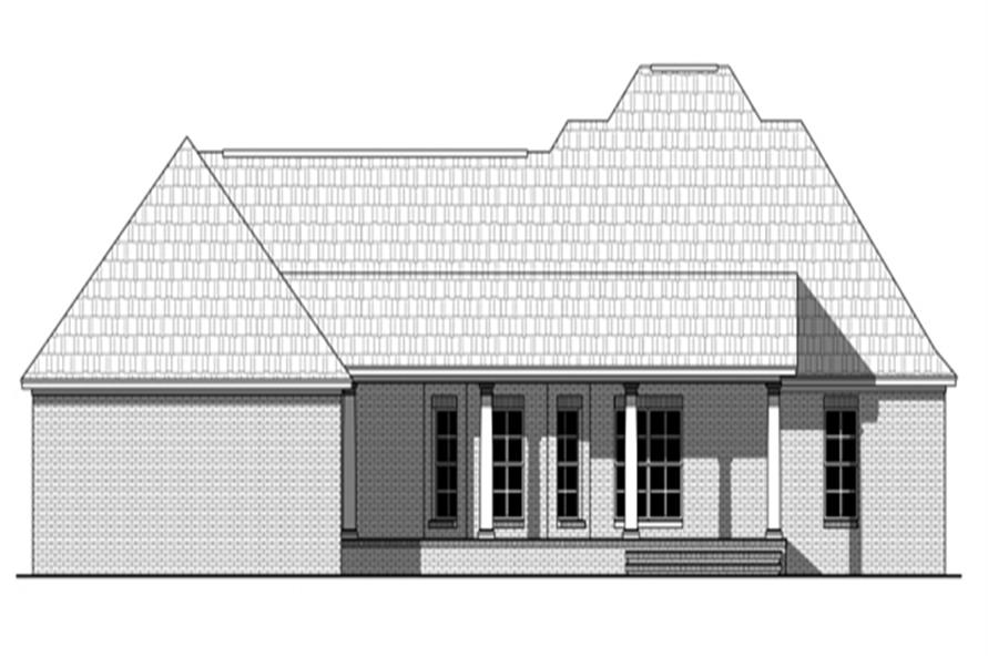 141-1269: Home Plan Rear Elevation