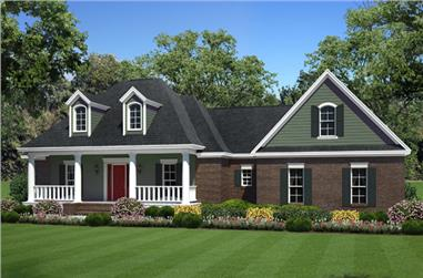 3-Bedroom, 1925 Sq Ft Country House Plan - 141-1269 - Front Exterior