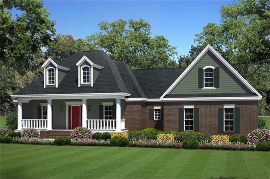 Front elevation of Country home (ThePlanCollection: House Plan #141-1269)