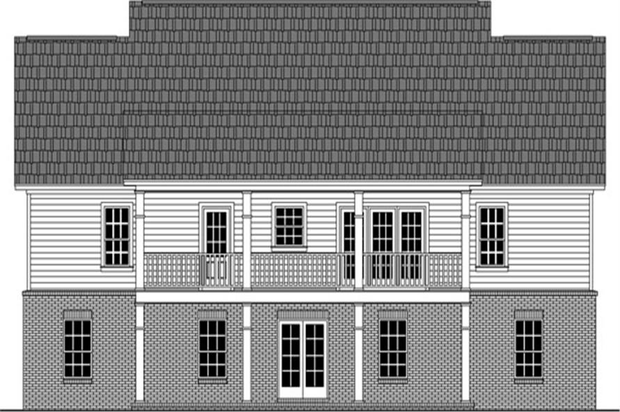 141-1270: Home Plan Rear Elevation