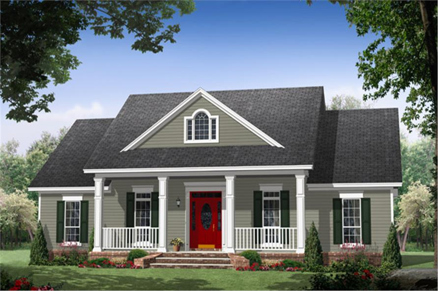 Front elevation of Country home (ThePlanCollection: House Plan #141-1270)