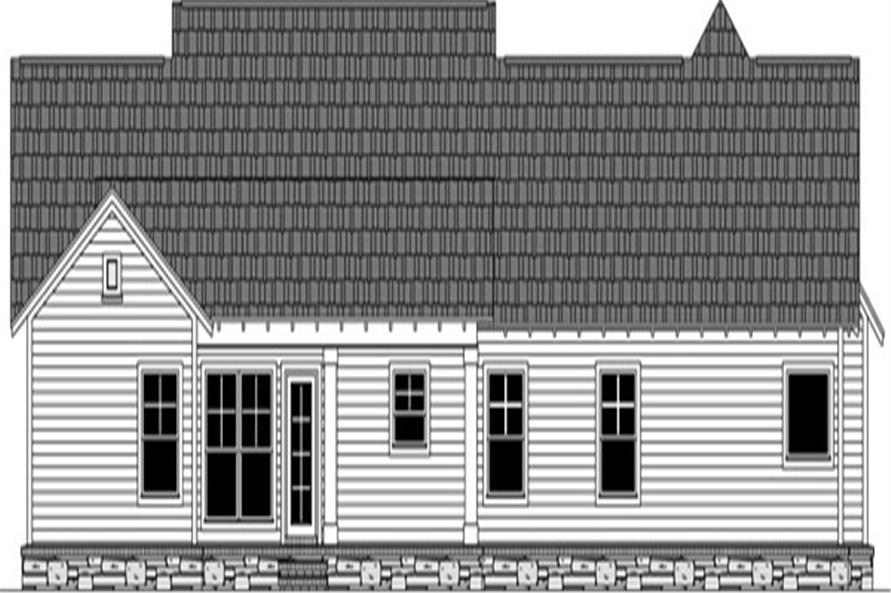 141-1271: Home Plan Rear Elevation