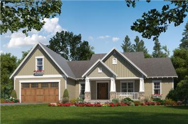3-Bedroom, 2001 Sq Ft Craftsman Home Plan - 141-1271 - Main Exterior