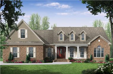 3-Bedroom, 2021 Sq Ft Country Home Plan - 141-1272 - Main Exterior