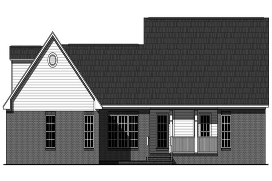 141-1273: Home Plan Rear Elevation
