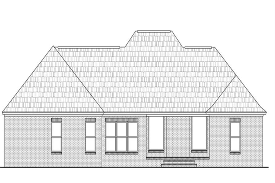141-1274: Home Plan Rear Elevation