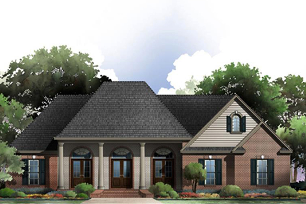French acadian house plan 141 1274 3 bedrm 2117 sq ft home for Acadian home plans