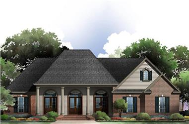 3-Bedroom, 2117 Sq Ft Acadian Home Plan - 141-1274 - Main Exterior