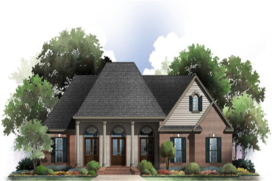 French acadian house plan 141 1274 3 bedrm 2117 sq ft French acadian homes