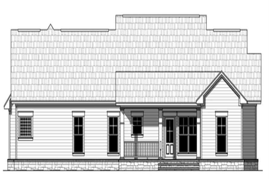 141-1275: Home Plan Rear Elevation