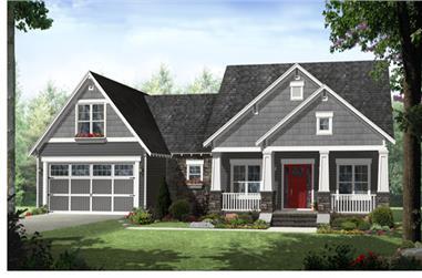4-Bedroom, 2199 Sq Ft Craftsman Home Plan - 141-1276 - Main Exterior