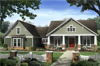 4-Bedroom, 2233 Sq Ft Craftsman House Plan - 141-1277 - Front Exterior