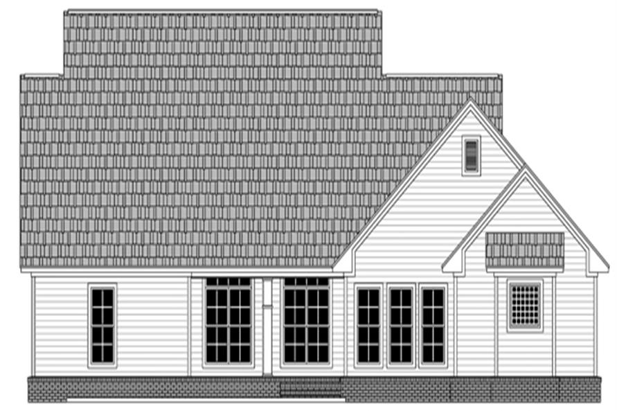 Home Plan Rear Elevation of this 4-Bedroom,2393 Sq Ft Plan -141-1281