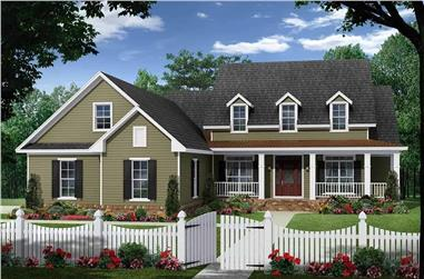 4-Bedroom, 2393 Sq Ft Farmhouse Plan - 141-1281 - Front Exterior