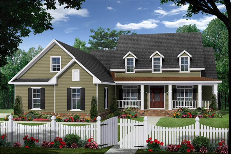 4-Bedroom, 2393 Sq Ft Farmhouse House Plan - 141-1281 - Front Exterior