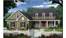 Front elevation of Country home (ThePlanCollection: House Plan #141-1282)