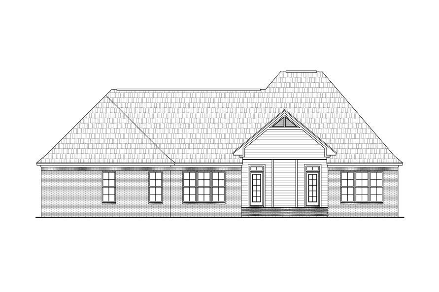141-1283: Home Plan Rear Elevation