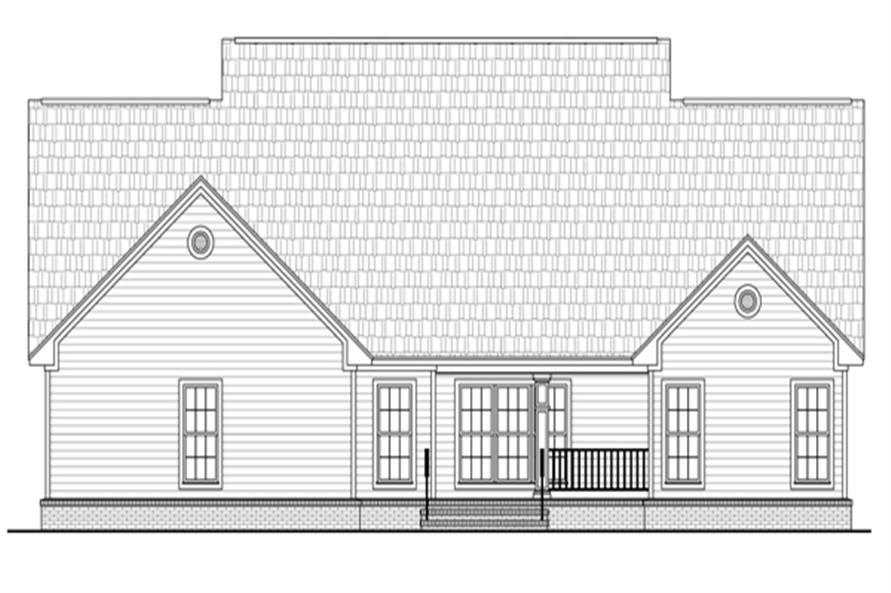 141-1284: Home Plan Rear Elevation