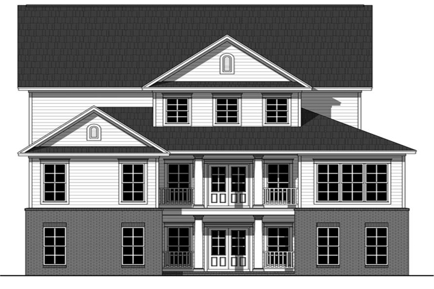 141-1285: Home Plan Rear Elevation