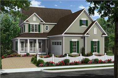 4-Bedroom, 2510 Sq Ft Farmhouse House Plan - 141-1285 - Front Exterior