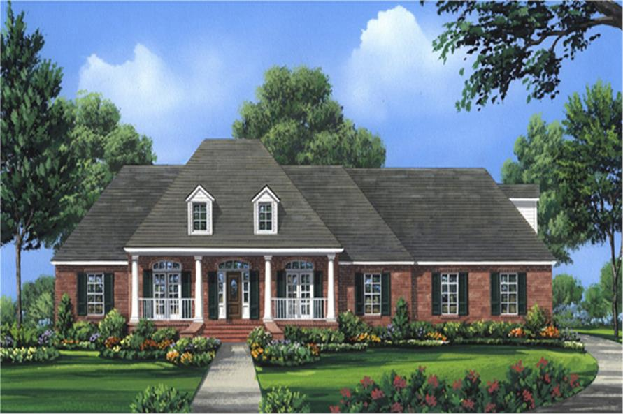 4-Bedroom, 2724 Sq Ft Country House Plan - 141-1286 - Front Exterior