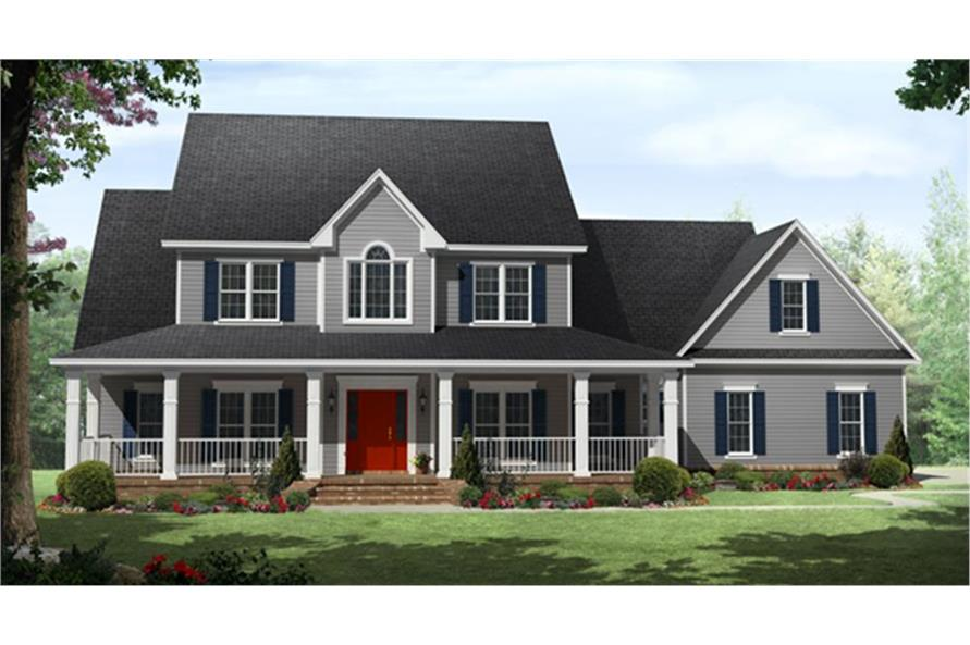 141-1287: Home Plan Rendering