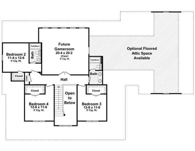 Great ... Second Story 141 1287: Floor Plan Upper Level