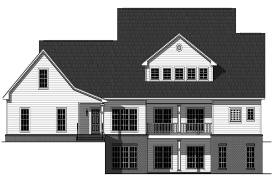 141-1287: Home Plan Rear Elevation