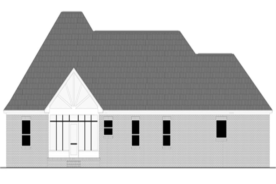 141-1289: Home Plan Rear Elevation