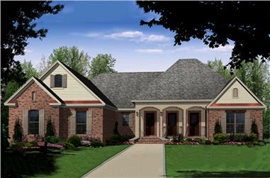 3-Bedroom, 2216 Sq Ft Country Home Plan - 141-1289 - Main Exterior