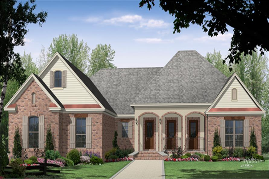 Front elevation of Country home (ThePlanCollection: House Plan #141-1289)