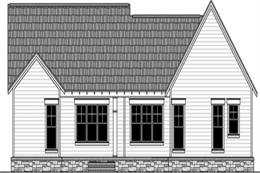 141-1291: Home Plan Rear Elevation